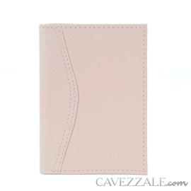 Porta Documentos de Couro Feminino Cavezzale Rose 102593