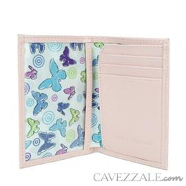 Porta Documentos de Couro Feminino Cavezzale Rose 97820