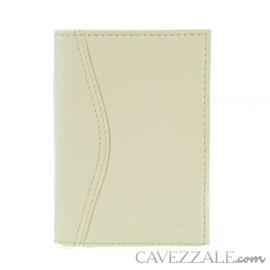 Porta Documentos de Couro Feminino Cavezzale Vanilla 102593