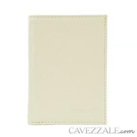Porta Documentos de Couro Feminino Cavezzale Vanilla 97820