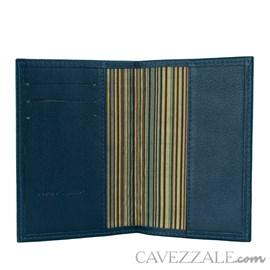 Porta Passaporte de Couro Cavezzale Marinho 101749