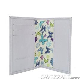 Porta Passaporte de Couro Feminina Cavezzale Lavanda 102594