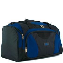 Sacola De Viagem Luxcel Preto Com Azul Em Poliéster 099820