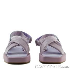 Sandália de Couro Cavezzale Bulgari Alfazema 102553
