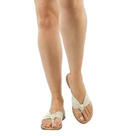 Sandália de Couro Cavezzale Off White 102150