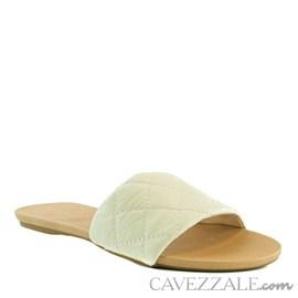 Sandália de Couro Cavezzale Off White 102165