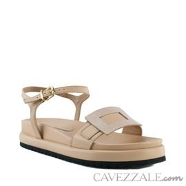 Sandália de Couro Cavezzale Veneto Cipria 102563