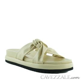 Sandália de Couro Cavezzale Veneto Crema 102565