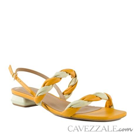 Sandália de Couro Cavezzale Veneto Crema/Manga 102560