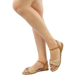 Sandália de Couro Nude Cavezzale 102151