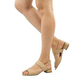 Sandália de Couro Nude Cavezzale 102155