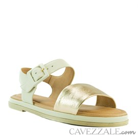 Sandália de Couro Nude Cavezzale 102164