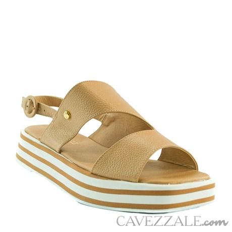 Sandália de Couro Nude Cavezzale 102176