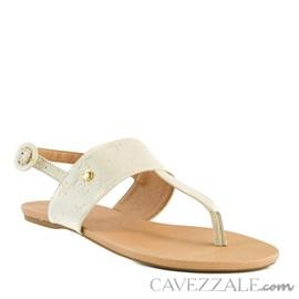 Sandália de Couro Off White Cavezzale 102171