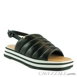 Sandália de Couro Preto Cavezzale 102173