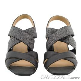 Sandália de Couro Preto Cavezzale Premium 0101441