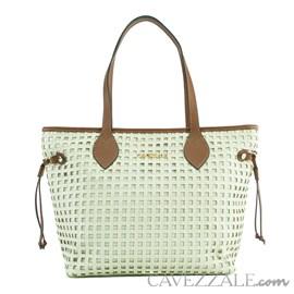 Shopping Bag de Couro Feminina Cavezzale Floter Trama Pannacota 102630