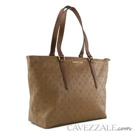 Shopping Bag de Couro Feminina Cavezzale Monograma Arabica 102568