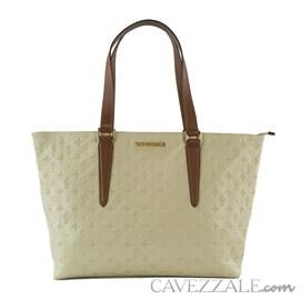 Shopping Bag de Couro Feminina Cavezzale Monograma Vanilla 102568