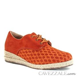Tênis Anabela Cavezzale Nobuck Orange 101979