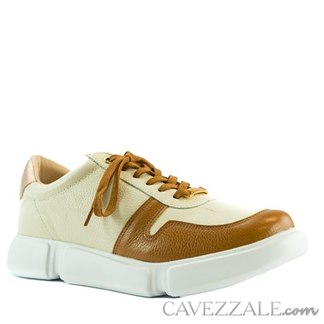 Tênis de Couro Caramelo Cavezzale 102159