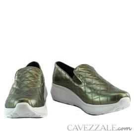 Tênis de Couro Cavezzale Napa Metal Pewter 101988