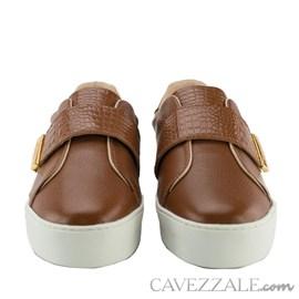 Tênis de Couro Cavezzale Soft Camel 102310