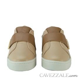 Tênis de Couro Cavezzale Soft Nude 102313