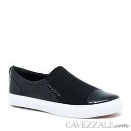 Tênis Feminino de Couro/Neoprene Preto Cavezzale Premium 0101446