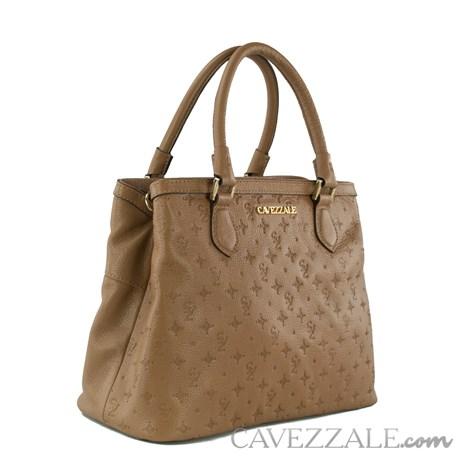 Tote Bag de Couro Feminina Cavezzale Monograma Arabica 102572